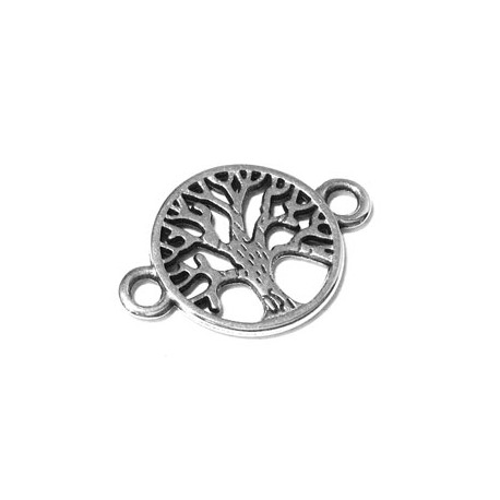 Zamak Connector Round Tree of Life 15mm