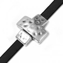 Fermoir Aimanté Croix en Métal/Zamak 19mm (Ø 5.2x2.2mm)
