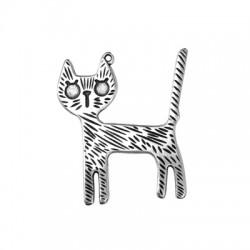 Zamak Pendant Funny Cat 35x44mm