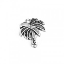 Zamak Charm Palm Tree 18x18mm