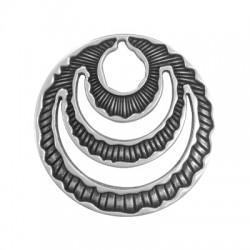 Pendentif Ovale en Métal/Zamak 59mm