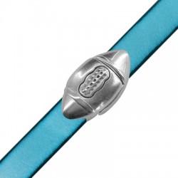 Zamak Magnetic Clasp Rugby Ball 29x15mm (Ø 10.2x2.2mm)