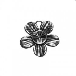 Μεταλλικό Ζάμακ Χυτό Μοτίφ Λουλούδι 35mm