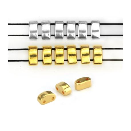 Μεταλλικό Ζάμακ Χυτό Στοιχείο Περαστό 3x6.4mm/3.6mm (Ø1mm)
