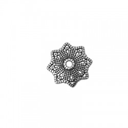 Zamak Bead Cap Flower 21mm