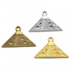 Pendentif pyramide en Métal/Zamak 32x15mm