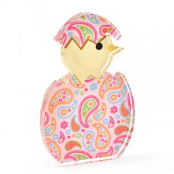 Plexi Acrylic Deco Egg Bird 77x120mm