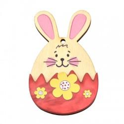 Wooden w/ Plexi Acrylic Pendant Bunny Egg 46x75mm