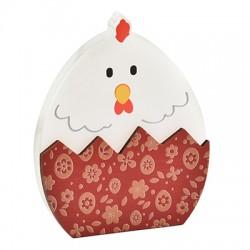 Ξύλινο με Πλέξι Ακρυλικό Επιτραπέζιο Αυγό Κοτούλα 72x86mm