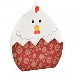 Wooden w/ Plexi Acrylic Deco Egg Chicken 72x86mm