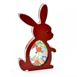 Wooden w/ Plexi Acrylic Deco Bunny 62x120mm