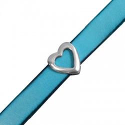 Μεταλλικό Ζάμακ Χυτό Περαστό Καρδιά 13x14mm (Ø10.5x2.5mm)