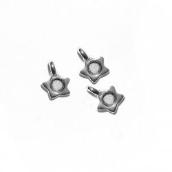 Zamak Charm Star 6mm w/ SS10 Setting