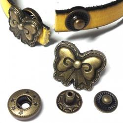 Brass Rivet Knot 17x15mm (4 parts)