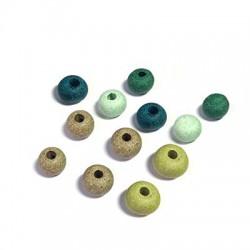 Perle Céramique effet Jaspé Mat 8 mm (Ø 3,3mm)