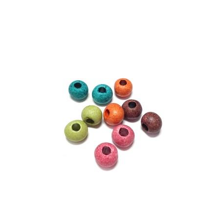 Perlina in Ceramica Grezza Dipinta a Freddo 8mm (Ø 3.3mm)