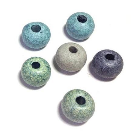 Perla in Ceramica Grezza Dipinta a Freddo 16mm (Ø 4mm)