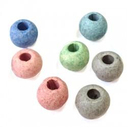 Ceramic Stonewashed Bead 16mm (Ø 5mm)