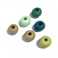 Ceramic Stonewashed Bead 12mm (Ø 4mm)