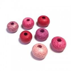 Perle Céramique effet Jaspé Mat 12mm (Ø 4mm)