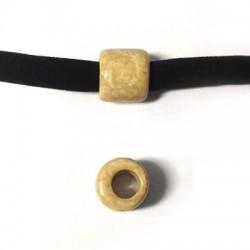 Tubo Passante in Ceramica Dipinta a Freddo 10x12mm( Ø 5.5mm)