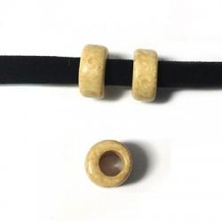 Rondelle Céramique 10x5mm (Ø 5mm)