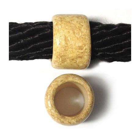 Tubo Passante in Ceramica Dipinta a Freddo 23x15mm( Ø 15mm)