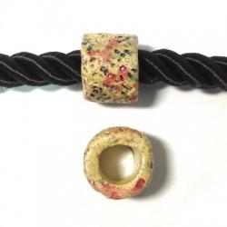 Tubo Passante in Ceramica Dipinta a Freddo 19x16mm (Ø 11mm)