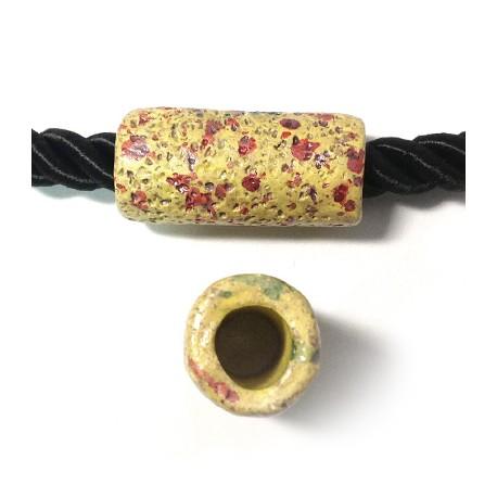 Tubo Passante in Ceramica Dipinta a Freddo 42x20mm (Ø 11mm)