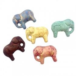 Passant Éléphant en Céramique 28x22mm (Ø 2.5mm)