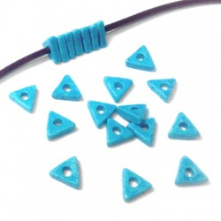Distanziatore Triangolare in Ceramica Dipinta a Freddo 8x2.5mm (Ø 2.5mm)