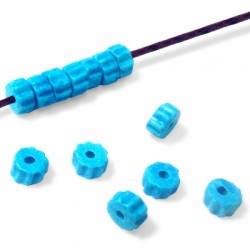 Κεραμική Χάντρα Ροδέλα 8x5mm (Ø2mm)