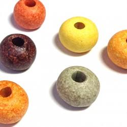 Perla in Ceramica Grezza Dipinta a Freddo 20mm (Ø 4.5mm)