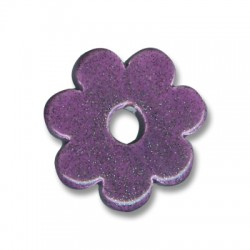 Enamel Ceramic Pendant Flower 32mm (Ø 7mm)