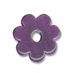 Fleur Céramique Émaillée 32mm (Ø 7mm)
