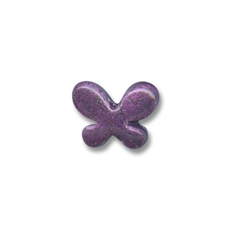 Enamel Ceramic Slider Butterfly 23x7mm (Ø 2.5mm)