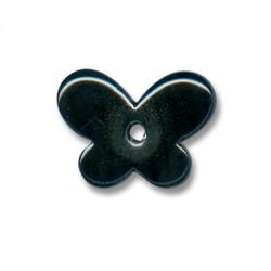 Passante Ciondolo Farfalla in Ceramica Smaltata 30x12mm