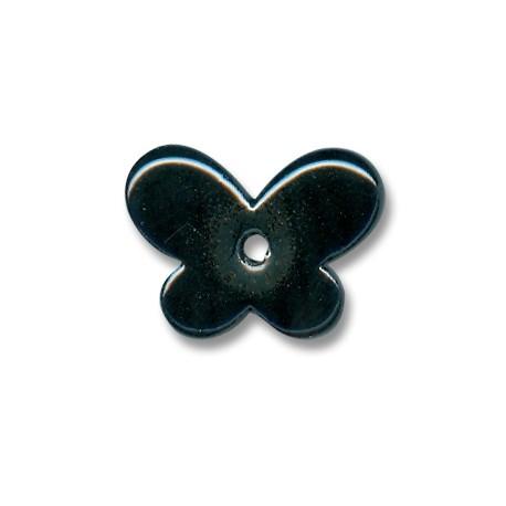 Κεραμική Χάντρα Πεταλούδα με Σμάλτο 30x12mm