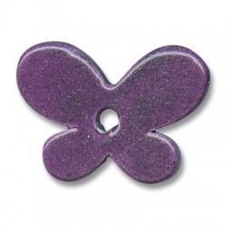 Passante Ciondolo Farfalla in Ceramica Smaltata 42x16mm