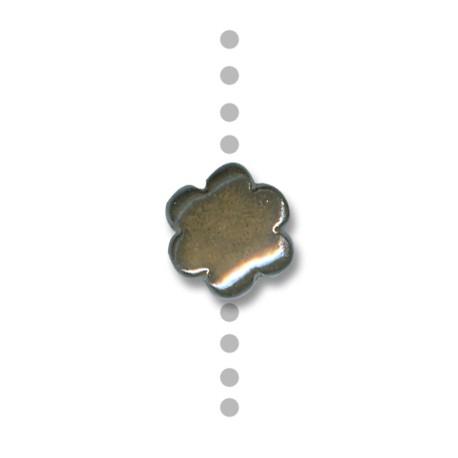 Κεραμική Χάντρα Λουλούδι Περαστό με Σμάλτο 16mm (Ø2.5mm)
