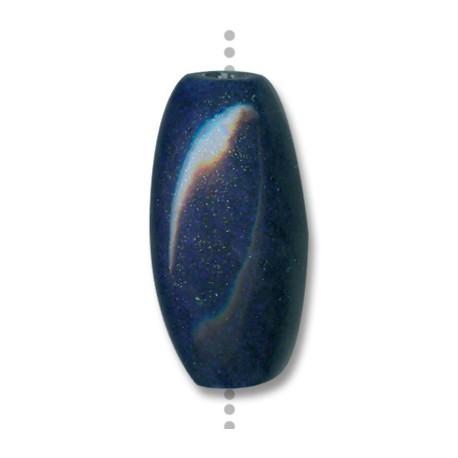 Enamel Ceramic Slider Oval 40x20mm (Ø 3.5mm)