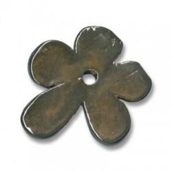 Enamel Ceramic Pendant Flower 48mm (Ø 4.5mm)