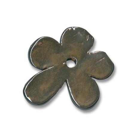 Κεραμική Χάντρα Λουλούδι με Σμάλτο 48mm (Ø4.5mm)