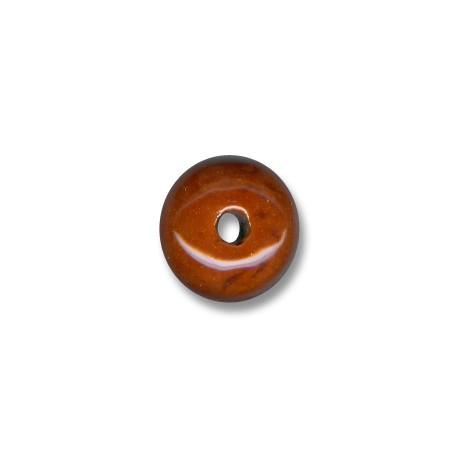 Enamel Ceramic Slider Rondelle 19mm (Ø 3.5mm)