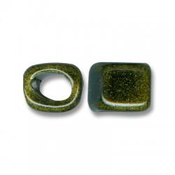 Cubo Passante per Cuoio Regaliz in Ceramica Smaltata 14mm (Ø 11x8mm)