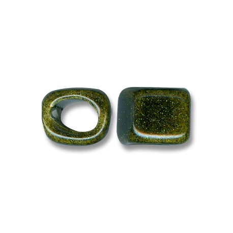 Enamel Ceramic Slider Cube for Regaliz Leather 14mm (Ø 11x8mm)