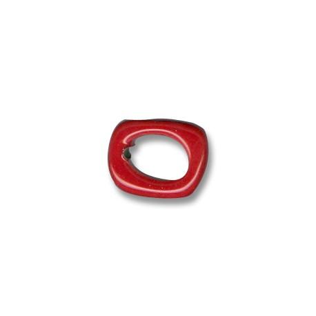 Anello Irregolare Passante per Cuoio Regaliz in Ceramica Smaltata 5mm (Ø 11x8mm)