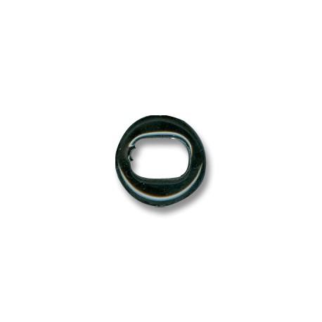 Enamel Ceramic Slider Oval for Regaliz Leather 5mm (Ø 11x8mm)