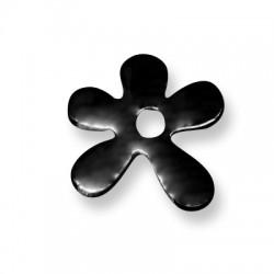 Enamel Ceramic Pendant Irregular Flower 30mm