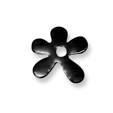 Passante Ciondolo Fiore in Ceramica Smaltata 30mm